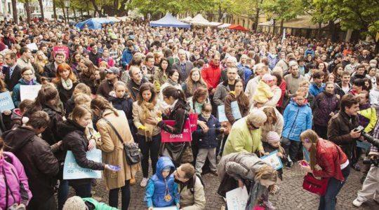 Na zhromaždení Bratislava za život sa zúčastnili tisíce ľudí