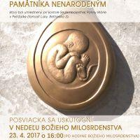Posviacka nového pamätníka nenarodeným deťom v Petržalke